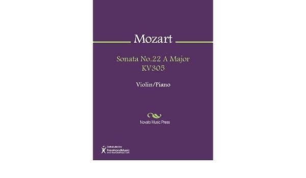 Sonata No.22 A Major KV305 - Score