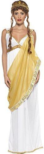 von Troja Historisch Griechische Göttin Römische Toga Kostüm Verkleidung - Weiß, 40-42 (Toga Kleid Kostüme)