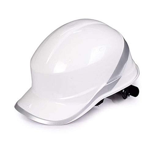 Casco de Seguridad Casco de Trabajo, Casco de Seguridad, Andamios de Alta Resistencia, Trabajos aéreos, Trabajos de Escalada Casco de Trabajador de la construcción de GUOF con (Color : Blanco)