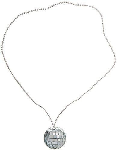 Rhode Island Novelty JNDISC2 2-Inch Disco Ball Necklace with 30-Inch Chain(Dozen), Silver by Rhode Island (Kostüm Rhode Island)