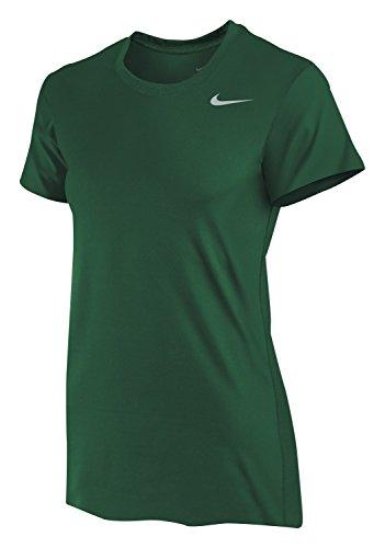 Nike Women's Dri-Fit Legend Short Sleeve T-Shirt (Large, Gorge Green) -