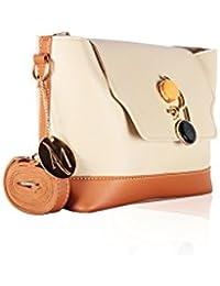 Alan Max Designer Sling Bag (Available In Wine, Brown, Green & Beige) (Beige)