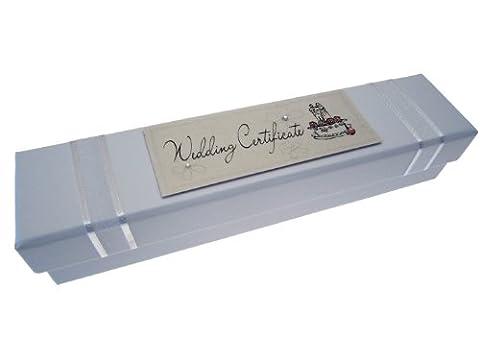 White Cotton Cards Cake Design Wedding Certificate Holder,