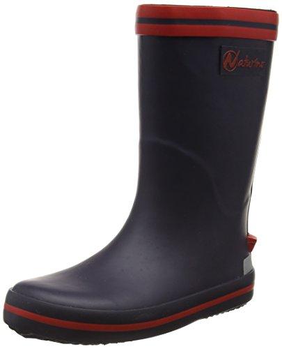 NaturinoNATURINO RAIN BOOT. - Stivali foderati a mezza gamba, contro il freddo Unisex - Bambini , Blu (Blau (GOMMA BLEU-ROSSO)), 30