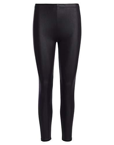 MrHappyDeal Leder Leggings Leggins Damen   Sexy PU Lederhose Strumpfhosen in schwarz, rot u.v.m. (leg_led_vielf) (M (36/38), Schwarz Matt)