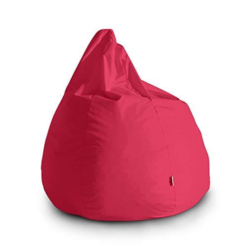 Avalon pouf poltrona sacco grande bag l jive 80x80x100cm made in italy in tessuto antistrappo imbottito colore fucsia