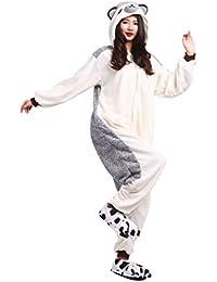 DarkCom Tier Kostüm für Erwachsene Unisex Einteiler Jumpsuit ideal Pyjama oder Cosplay Verkleidung