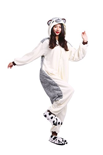 (DarkCom Adult All In One Unisex Sleepsuit Cartoon Pyjamas Halloween Cosplay Kleidung Jumpsuits Igel Klein)