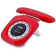 SPC Telecom TEL317707R - Telefono fisso, con DECT, colore: rosso