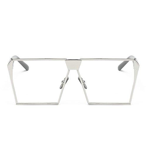 Likecrazy Unisex Retro Brille Frauen Männer Spiegel Objektiv Reise Sunglass Large Frame square...