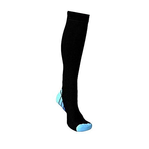 Moresave Calzari di calza di compressione di sostegno della calzatura di sport di sostegno di sport Blu