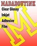 Trasparente, con pellicola adesiva in vinile per stampanti a getto d'inchiostro, 20 fogli, formato A4