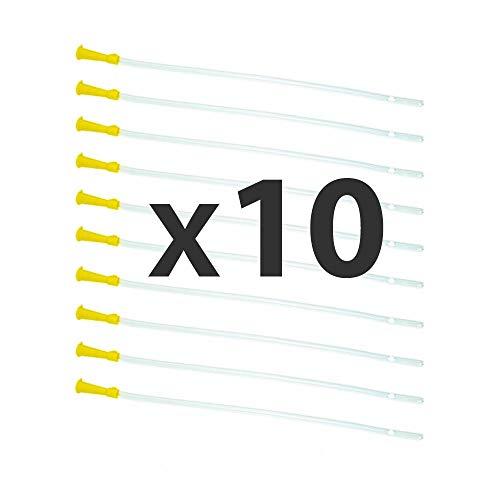 Dr. Wunder Darmrohr-Set 10 Stück: runde Spitze & abgerundete Kanten ||Länge 30cm, Durchmesser 6.7mmm || flexible Einlaufhilfe || universelle Größe für jedes gängige Irrigator-Set bzw. Klyso-Pumpe