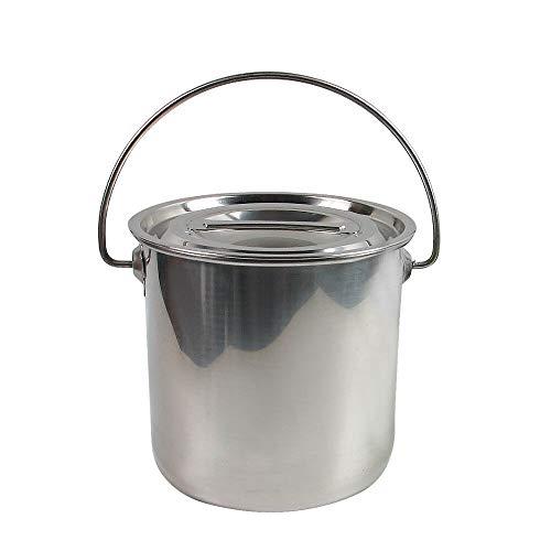 YIYIBY Edelstahl Eiseimer 6 Liter viele Anwendungen Fisch-Eimer Schlachte-Eimer Küche Kompost Eimer Abfalleimer mit/Deckel Entfernbarer