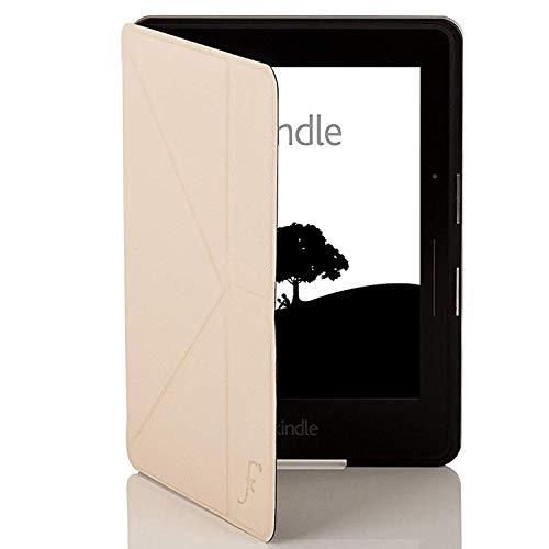 azon Kindle Voyage Origami Hülle Schutzhülle Tasche Bumper Folio Smart Case Cover Stand - Ultra Dünn und Leicht mit Rundum-Geräteschutz und intelligente Auto Schlaf / Wach Funktion (WEIß) ()