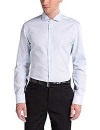 47104efe6cac Eterna Long Sleeve Shirt Slim Fit Poplin Uni