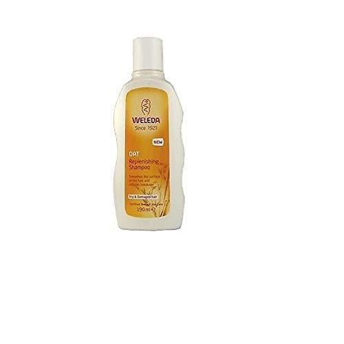 WELEDA Hafer Aufbau-Shampoo, Naturkosmetik Pflegeshampoo für strapaziertes und trockenes Haar, Haarshampoo glättet die Haare und mindert Haarbruch und Spliss (1 x 190 ml)