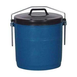 ALUMINIUM ET PLASTIQ Poubelle Couvercle inséparable 22 L, Bleu