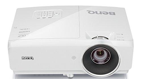 BenQ MH741 3D DLP-Projektor (3D 144 Hz Triple Flash, Full HD, 1920 x 1080 Pixel, Kontrast 10.000:1, 4000 ANSI Lumen, 2X HDMI, MHL, 2D Keystone, 1,3X Zoom) Weiß