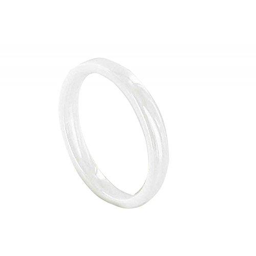 Schmuck Les Poulettes - Ring Weiß Ceramic 3mm - grobe 50 (15.9)