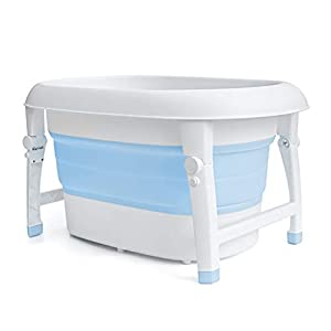 AIYE Plastic Folding Bathtub,Baby Bath Tub,Portable Collapsible Bathtub,Children's Folding Shower Tray,Bathtub,80 * 53 * 43cm Big Space,3 Colors