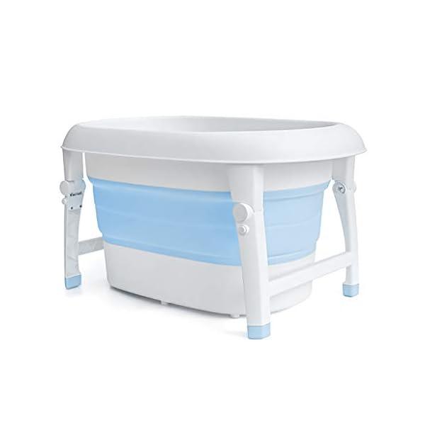 AIYE Plastic Folding Bathtub,Baby Bath Tub,Portable Collapsible Bathtub,Children's Folding Shower Tray,Bathtub,80 * 53 * 43cm Big Space,3 Colors 1