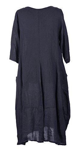 Generic -  Vestito  - Maniche corte  - Donna blu navy