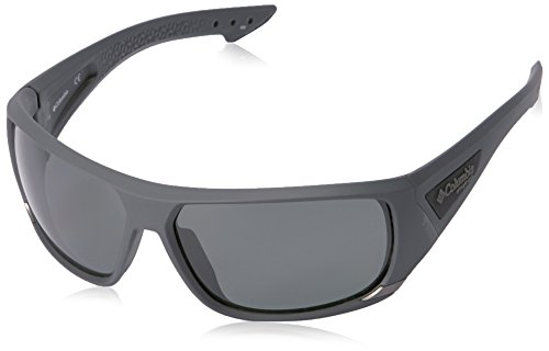 Columbia Men's Arbor Peak Polarized Wrap Sunglasses, Matte Shark, 66 mm