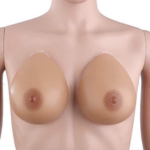 GXJ AAA-AACUP Falsche Brüste Medizin Brust Silikon for Crossdresser Outfit Simulation Breast Brust Enhancer Transgender,AAACup(300g/Pair)