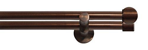Tilldekor Gardinenstange HIGH-LINE FORMENTOR, braun-antik, Ø 20 mm,2-Lauf, 120 cm, inkl. Trägern...