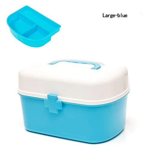 YINING Boîte à Pharmacie Portable en Plastique,Boîte de Rangement pour médicaments/Grande Trousse de Premiers Soins Portable à la Maison Multi-Couches