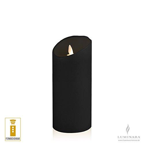 Luminara–Vela de cera con led (8x 17cm Negro fernbedienbar lisa Acción