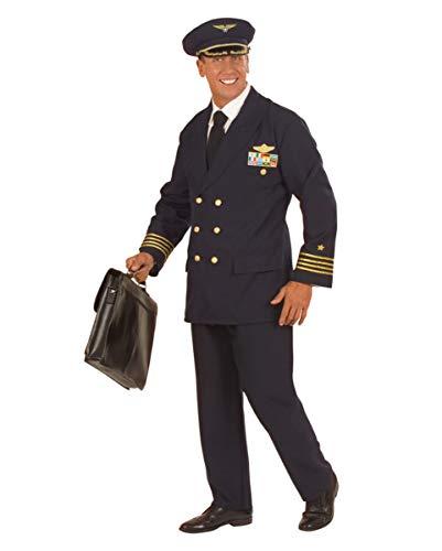 Piloten Uniform Berufs-Kostüm für Herren an Fasching & Mottoparty M