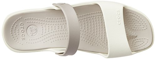 Crocs Coretta - Sandales - Femme Blanc (Oyster/Platinum)