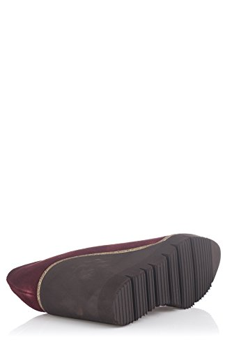 Laura Moretti Wedge Shoes, Compensées femme Bordeaux
