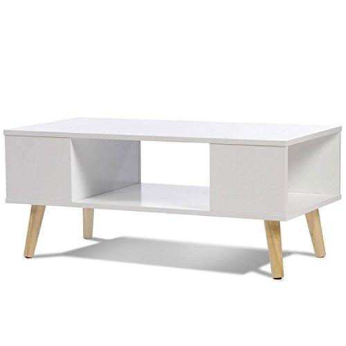 IDMarket - Table basse EFFIE scandinave bois blanc