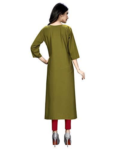 1 Stop Fashion Women's Crepe Straight Kurta (Pack of 6) (Dhamaka Combo_Multi_L)
