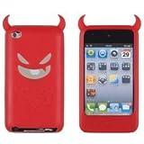 Coque en silicone Conception Diable pour iPod Touch 4 Rouge