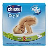 chicco - 03922.10 pannolini midi 4-9kg 21pz