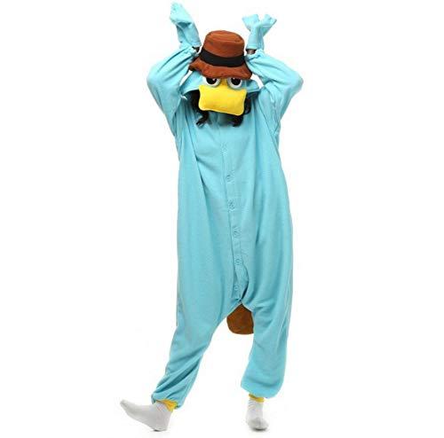 Schnabeltier Pyjamas Mädchen Bekleidung Animal Erwachsene Unisex Schlafanzüge Karneval Leistungskleidung Onesies Anime Fasching Masquerade Kostüme Weihnachten Halloween Nachtwäsche