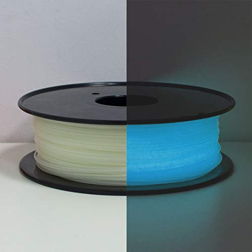 PLA Filament 1.75mm, Glows Blau in the Dark, GEEETECH 3D Drucker Filament 1kg Spool