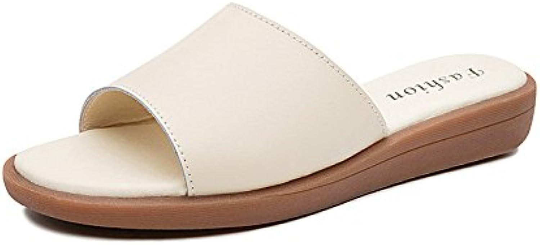 QIN&X Women's Casual Sandals Chunky Heel  Flip Flop