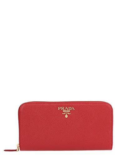 Prada luxury fashion donna 1ml506qwa rosso portafoglio | stagione permanente