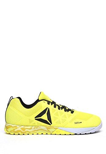 Nano 6 nero Reebok giallo Crossfit Uomo da Scarpe Fitness 0 R HxHCq4w