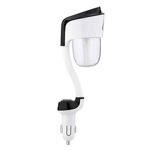 Preisvergleich Produktbild Alxcio Aroma Diffuser Auto Luftbefeuchter Mini Luftreiniger mit 2 Port USB Ladegerät Aromatherapie ätherisches Öl Diffusor Raumbefeuchter für Auto, Schwarz