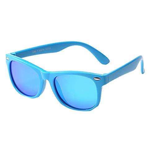 Whycat sonnenbrille kinder 3-12 jahre Rubber Flexible Kids Polarized Sonnenbrille für Mädchen, Jungen, Alter 3-10(Blau)