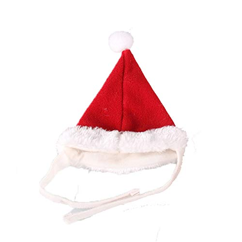 ZHRUI Weihnachtsmützen für Hunde und Katzen Ajustable Cute Tiny Santa Claus Hats (Farbe : Rot, Größe : Einheitsgröße)