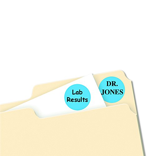 """Avery - Removable Labels, 3/4"""" Round, 1008/PK, Light Blue, Sold as 1 Package, AVE05461"""