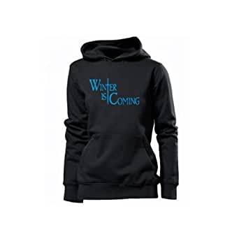 WINTER IS COMING - women Hoodie black /blue size S