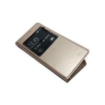 E-com Premium Leather Flip Cover Case For Samsung Galaxy Grand Prime G530 Gold